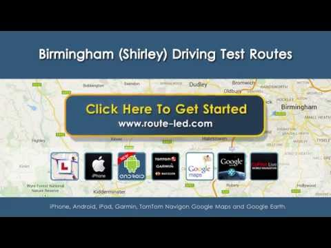 Birmingham Shirley Driving Test Routes