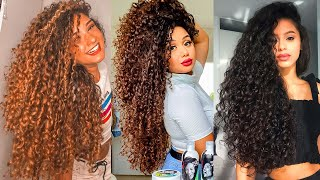 Curly Hair Tutorial Compilation - 2020 Hairstyles