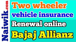 Two wheeler vehicle insurance renewal online on Bajaj Allianz