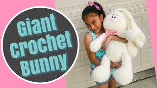 How to crochet a Giant Bunny 🐰