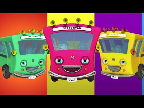 Ten Little Buses | Nursery Rhymes Collection | Videogyan 3D Rhymes & Kids Songs