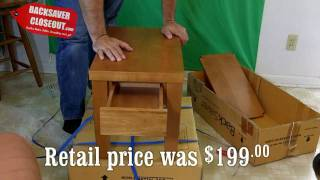 How To Put Together Solid Wood Table From Backsavercloseout.com
