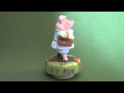 Vintage 1981 Beatrix Potter Little Pig Robinson Music Box by Schmid