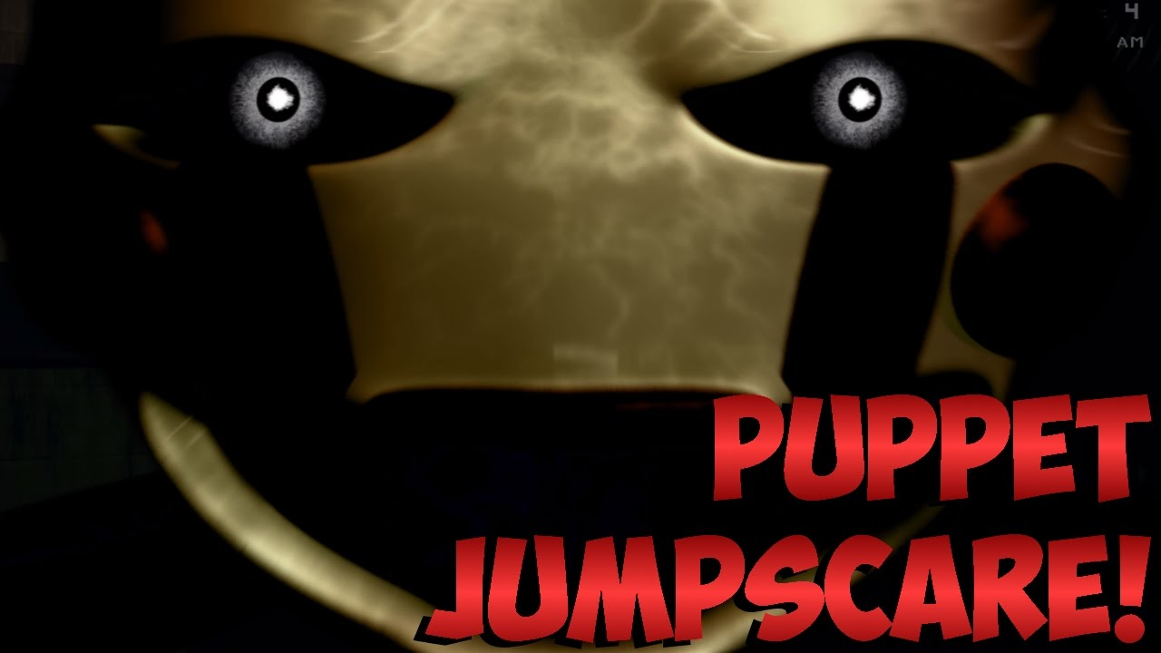 Five nights at freddy s 3 puppet jumpscare youtube