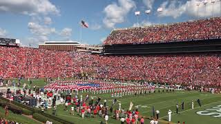 USA National Anthem and F-16 flyover at LSU vs Auburn
