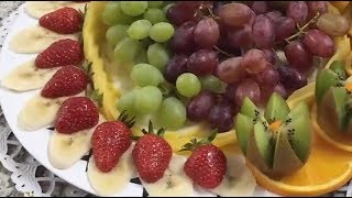 🍇 How to Make a Fruit Plate 🍓 Delicious sliced FRUIT - By JUST FOR FUN
