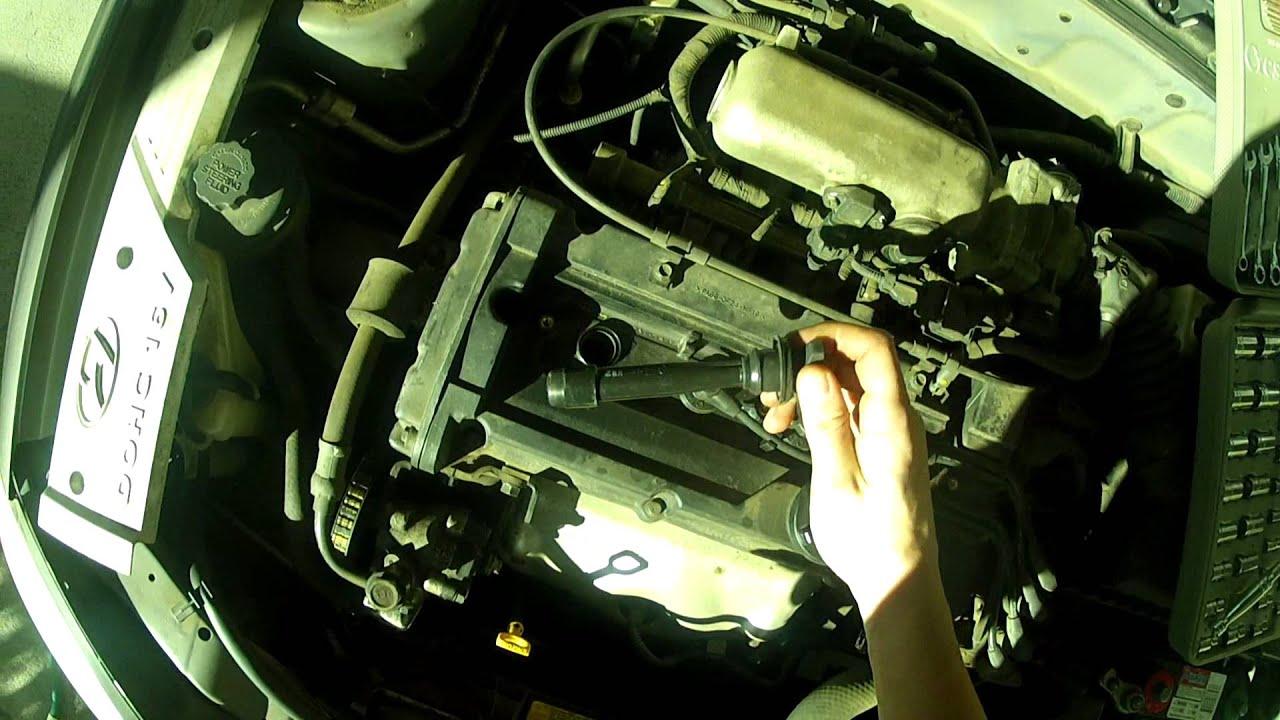 2003 Hyundai Tiburon Engine Wiring Diagram How To Change Spark Plugs Hyundai Accent 01 05 Youtube