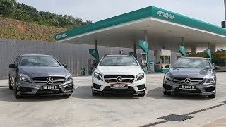 DRIVEN 2015 #1: Mercedes-Benz A45 AMG vs CLA45 AMG vs GLA45 AMG