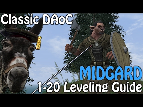 Classic Dark Age of Camelot –  Midgard 1-20 Leveling Guide