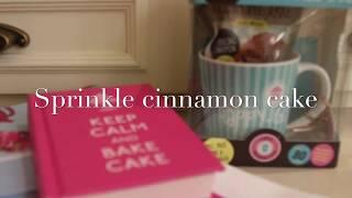 Sprinkle cinnamon cake