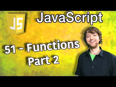 JavaScript Programming Tutorial 51 - Passing Arguments by Value - Functions Part 2 thumbnail