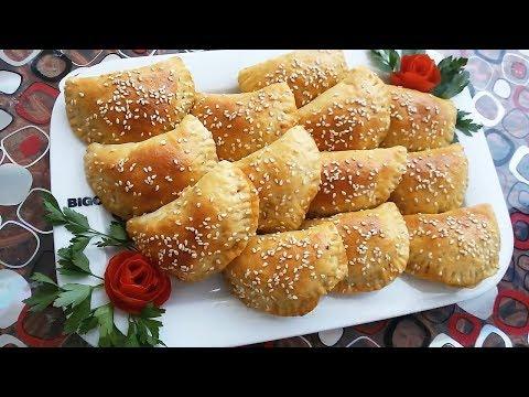 فطائر بالجبنة واللحمة المفرومة بالعجينة القطنية للفطور والعشاء  مخبوزات ومعجنات ( الحلقة 15 )