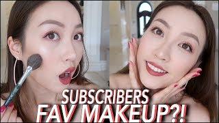 爆款彩妆💥全脸用你们PICK的彩妆化妆 +suqqu粉霜怎么样?FULL face using your fav makeups ❤️