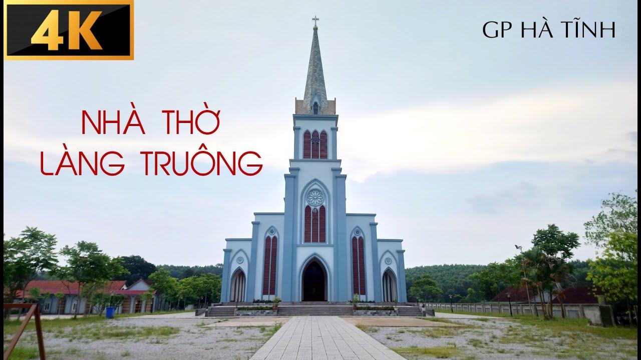 Flycam 4K Toàn Cảnh Nhà Thờ Gỗ Và Giáo Xứ Làng Truông – Giáo Phận Hà Tĩnh – Kiến Trúc Nhà Thờ Đẹp