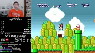 (14:11) Super Mario Bros.: The Lost Levels any% D-4 (Mario) speedrun *Former World Record*