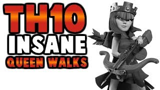 CLASH OF CLANS | QUEEN WALK GUIDE FOR TH10 | TH10 3 STAR HEALER/AQ STRATEGY
