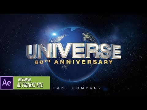 Element 3D Template - Universal-Studios Intro Logo Animation