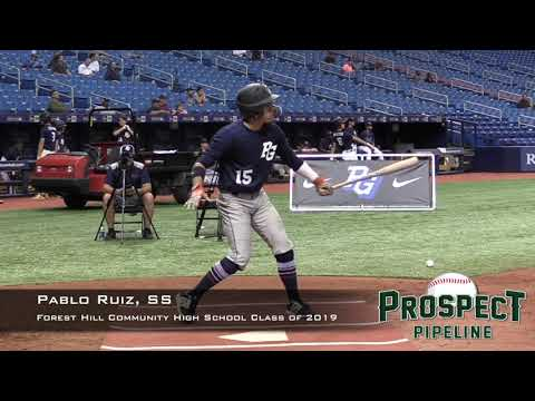 Pablo Ruiz Prospect Video, SS, Forest Hill Community High School Class of 2019