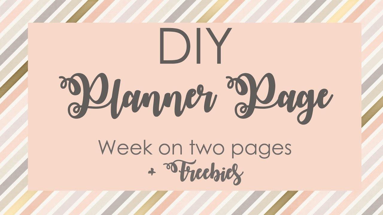 diy weekly planner page
