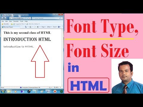 Font Type, Font Size Changing In HTML - Lesson 2
