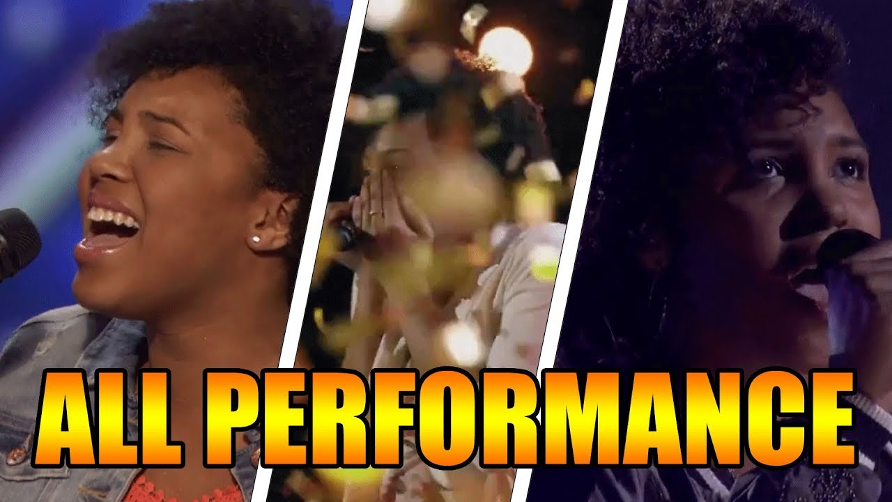 Jayna Brown 14 Year Old Singer Americas Got Talent 2016 All