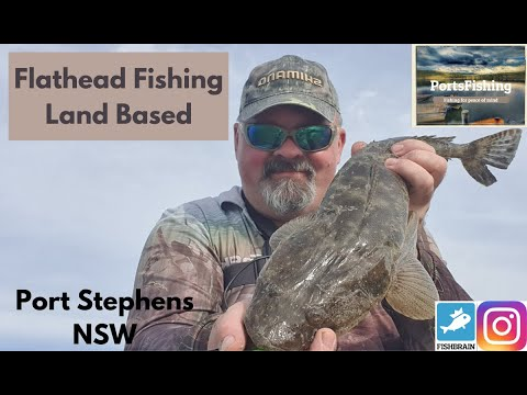 Flathead Soft Plastics Fishing Land Based Port Stephens NSW