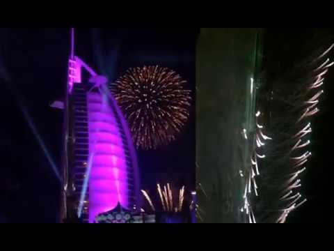 UAE firework show 2018 | Burj khalifa | Burj al Arab dubai new year fireworks event show 2018|fahim