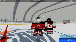 Roblox - Hockey World || Lux shoots on me