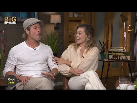 Brad Pitt & Margot Robbie on eating in movies, Tarantino's Star Trek & they get a major surprise!