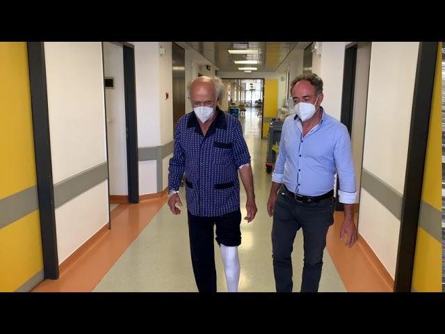 Ρομποτική (ROSA) αρθροπλαστική γόνατος ταχείας κινητοποίησης (fast track) σε ασθενή 85 ετών!