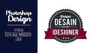 PHOTOSHOP | Membuat logo Vintage Modern Tutorial Photoshop