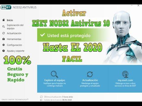 licencia de eset nod32 antivirus 9 2017