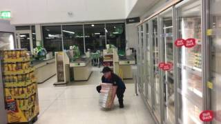WOW Shocking footage showing dominos employee buying pizzas from Asda