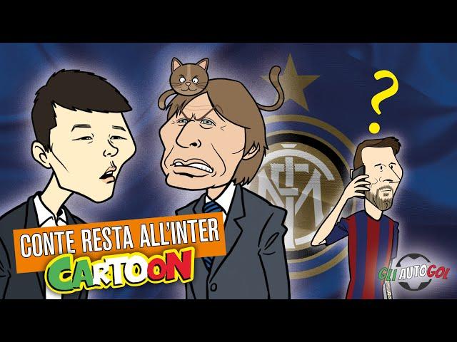 AUTOGOL CARTOON - Conte e il caso Messi