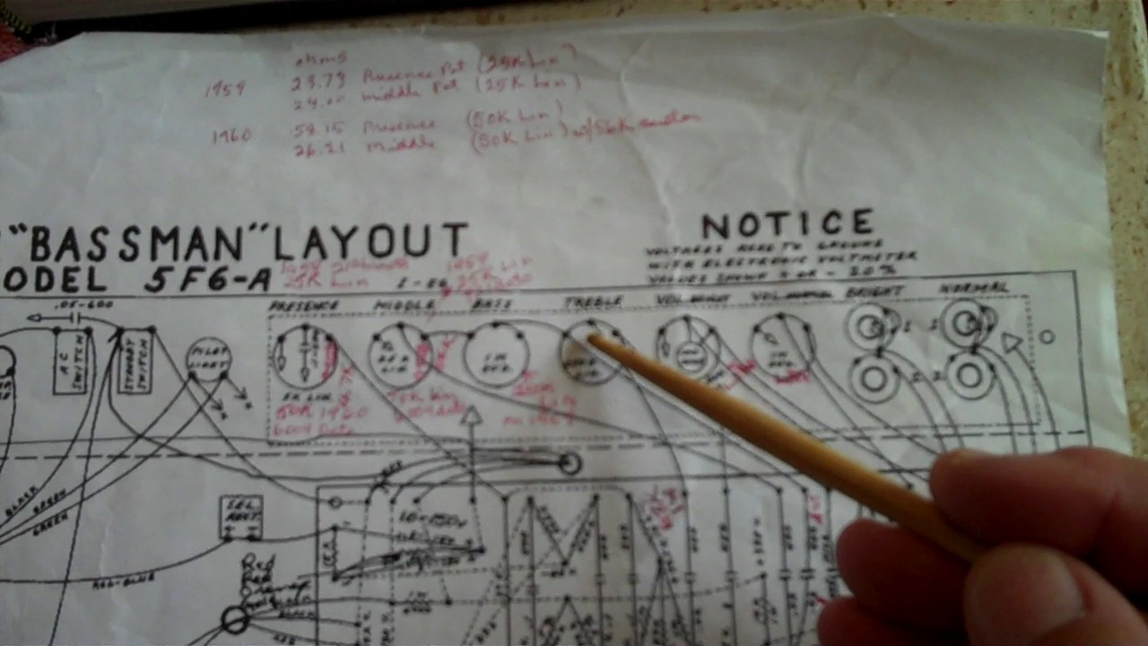 The Mystery Of Fender Bassman 5f6 A Schematic Cracking Stratocaster Wiring Diagram 1960 Code