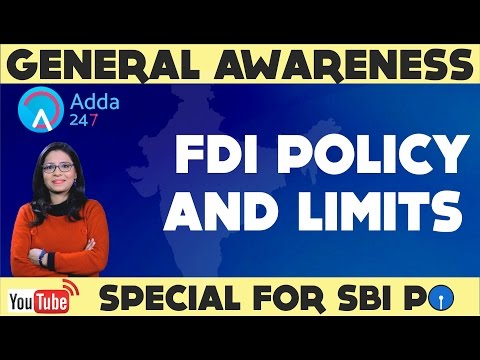GENERAL AWARENESS SHOW -  FDI Policy And Limits ( Online Coaching For SBI IBPS Bank PO)