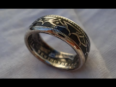 how to contrast a silver coin ring patina finish youtube