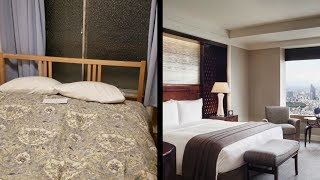 Going to the Cheapest and the Most Expensive Hotel in Tokyo