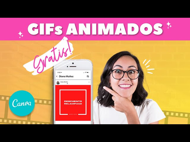 Cómo crear un GIF ANIMADO en CANVA GRATIS para tu email marketing o website