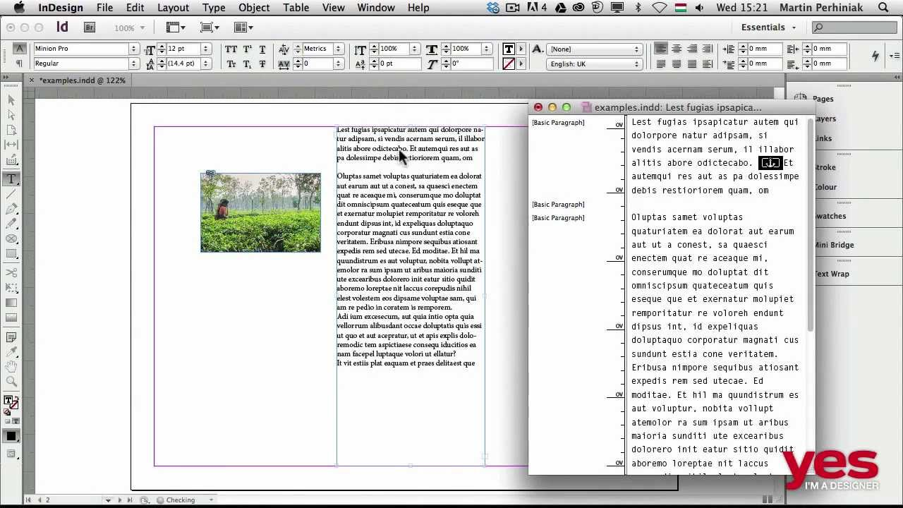 Anchor Images To Text In Indesign Youtube