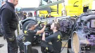 Lion Truck Racing - GP camions Alès 2014 - changement moteur timelapse
