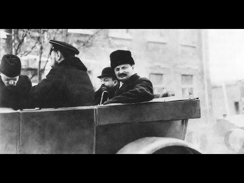 """""""Позорный мирный договор с Германией"""" Лев Бронштейн (Троцкий)  прибыл в Брест ,1918, кинохроника"""