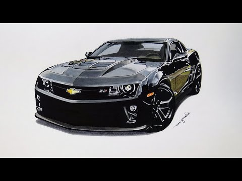 Chevrolet Camaro Zl1 Realistic Car Drawing Speed Drawing 3d Art