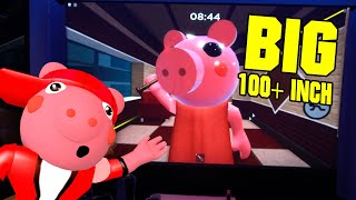 PLAYING ROBLOX PIGGY ON A 100 INCH LASER PROJECTOR