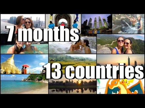 TRAVEL MONTAGE | THE BEST TIME OF OUR LIVES (7 MONTHS, 13 COUNTRIES)