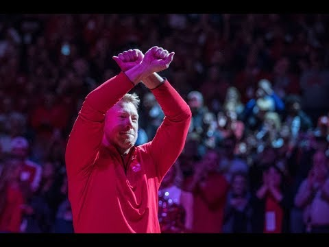 Scot Frost Walks Onto the Nebraska Basketball Court In Tears of Joy!! Welcome Home Coach!!