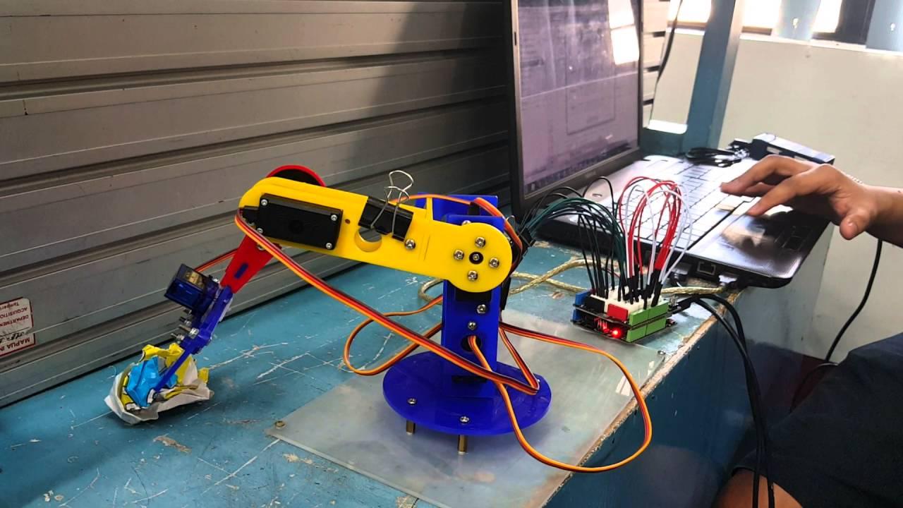 Robotic Arm Control via Matlab and Arduino