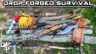 Building Permanent Bushcraft Camp - 12 Day Budget Survival Challenge - Day 5
