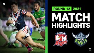 Roosters v Raiders Match Highlights   Round 12, 2021   Telstra Premiership   NRL