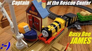 Thomas & Friends: All New Trackmaster Busy Bee James and Captain at the Rescue Center